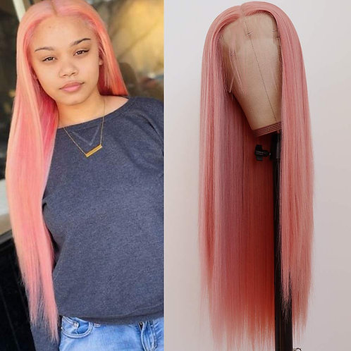 """30"""" PRINCESS PINK  LACE FRONT WIG"""