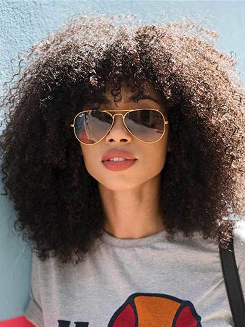 NATURAL CURLY KINKY SYNTHETIC AFRICAN AMERICAN HAIR WIG