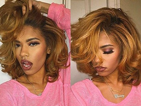 """HONEY GIRL"" 100% HUMAN HAIR LACE WIG"