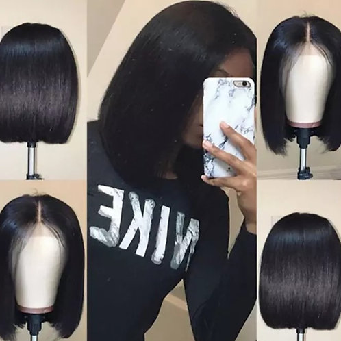 Bob Lace Front Human Hair Wigs With Baby Hair Pre Plucked Brazilian Remy Hair