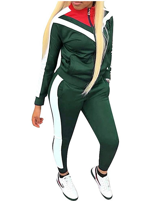 """""""RUN IT UP"""" GREEN TRACK SUIT"""