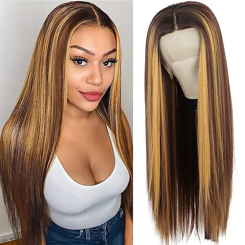24: INCH  HIGHLIGHT LACE FRONT WIG
