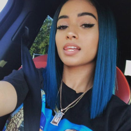 BLUE OMBRE LACE FRONT WIG