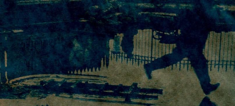Cianótipo sobre papel Kraft de Adriana Ferreira