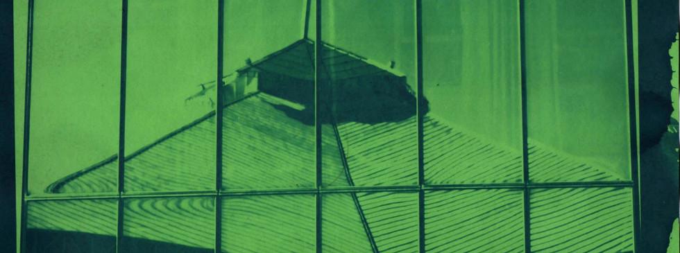 Cianotipo sobre papel colorplus verde
