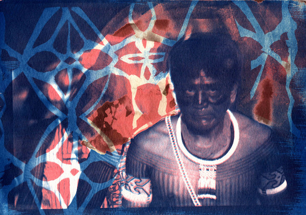 Cianotipo + Goma - Virginia Magalhaes