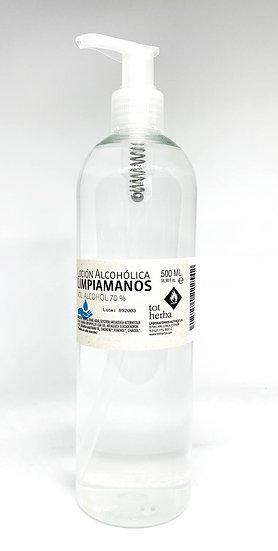 Loción Alcohólica Limpiamanos 500 ml Dosificador