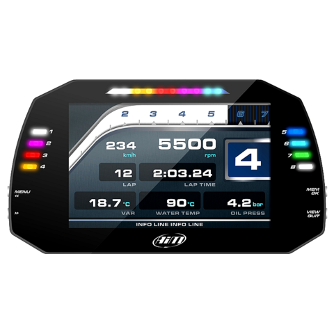 "Aim 7"" MXG 1.2 Racing Dash Data Logger"