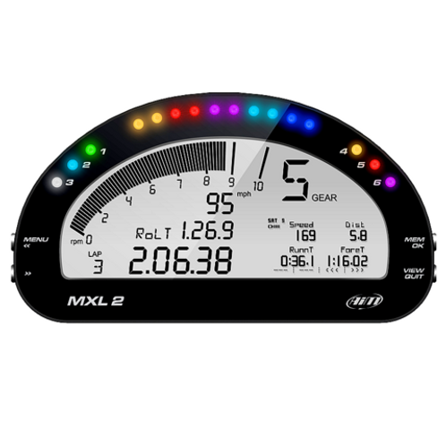 Aim MXL2 Car Racing Dash Logger