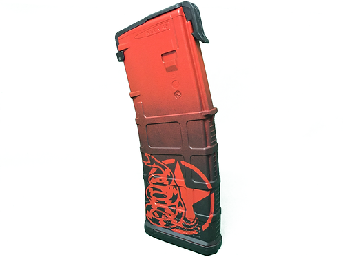 """Don't Tread On Me"" PMAG Series (Blood Red)"
