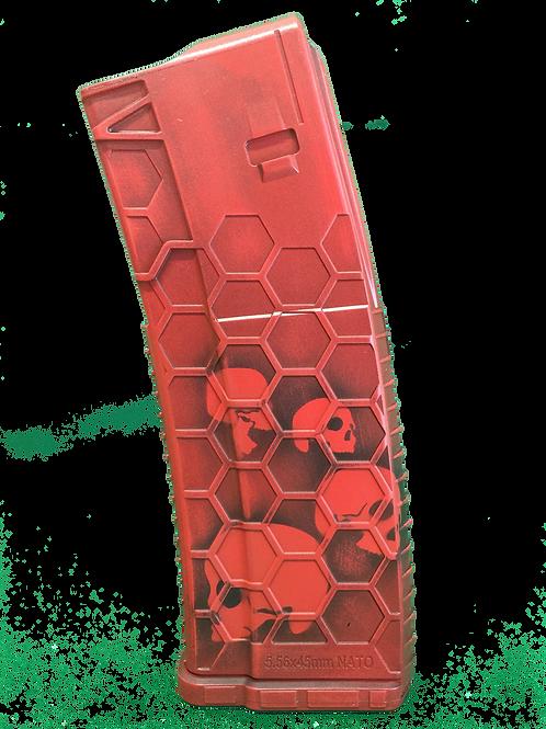 Skulltek Hexmag: Red w/ Black Dust