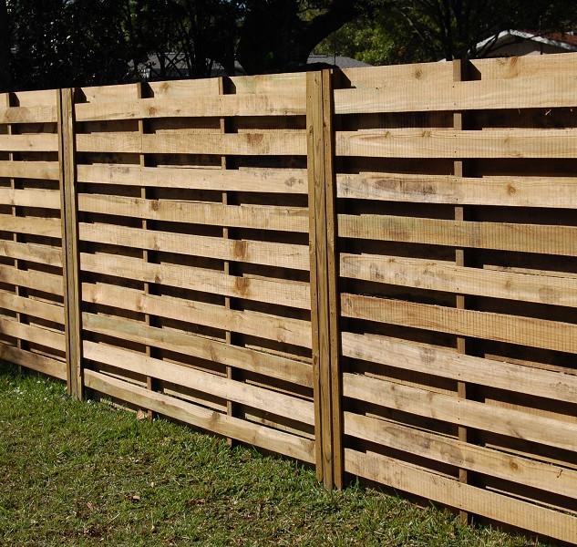Wood Fence Style Horizontal Shadow Box