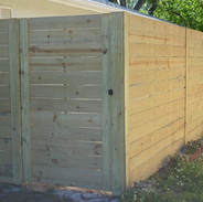 wood fence panels horizontal stockade 00