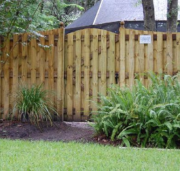 Wood Fence Style Vertical Shadow Box