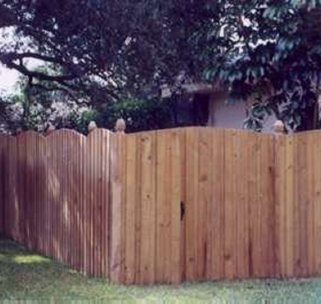 Wood Fence Style Round Top