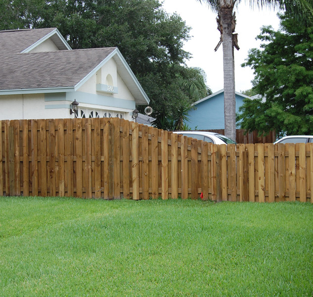 Wood Fence Styles Transistion Panels