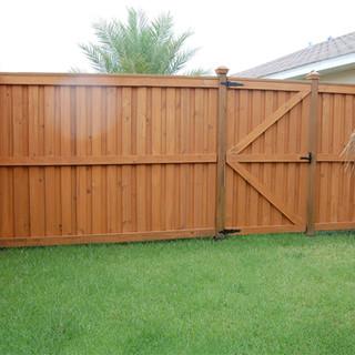 Wood Fence Styles Toe Kick