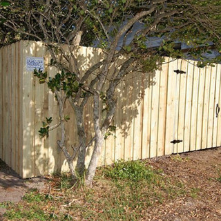 Wood Fence Style 5' tall Vertical Board on Board