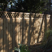 Wood Fence Style Lattice Top Vertical Board on Board