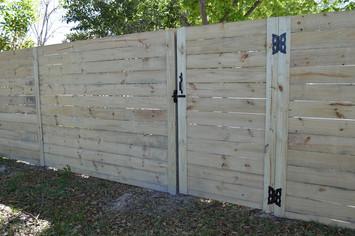 wood fence panels horizontal stockade 00