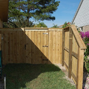 Wood Fence Style Vertical Board on Board Transistion Panel