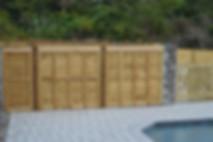 Ship Lap Wood Fence Panels with Cap, Toe kick & Cladding