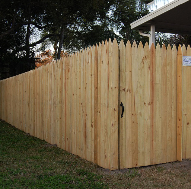 Wood Fence Style Vertical Stockade