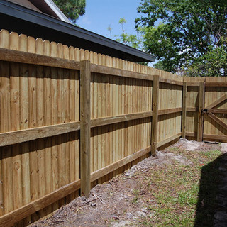 Wood Fence Style Vertical Board on Board