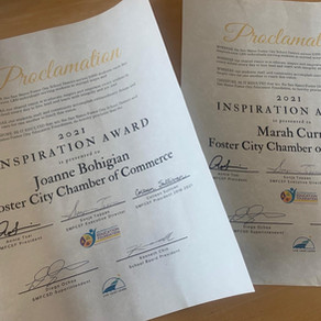 2021 Inspiration Award Proclamations - A Thank You For Your Support and Trust