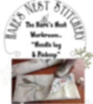 Needle log and pin keep Hares Nest stitc