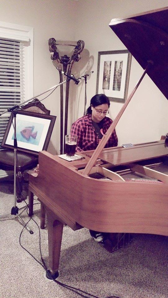 PAULA RECORDING AT LAURA'S HOUSE.jpg