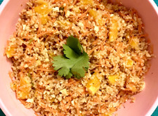 Bulgur Wheat, Carrot, Orange and Walnut Salad