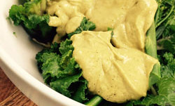 Avocado Sauce with Flower Sprouts and Tenderstem Broccoli