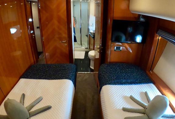 Bedroom 3 Yacht Charter Predator