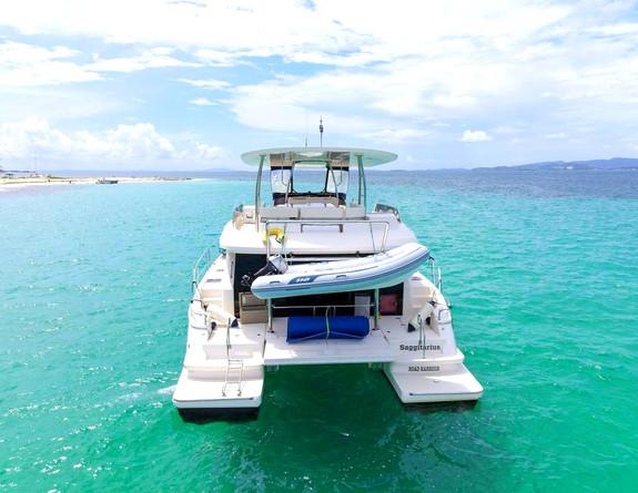 Aquila 48 back Yacht Catamaran Rental