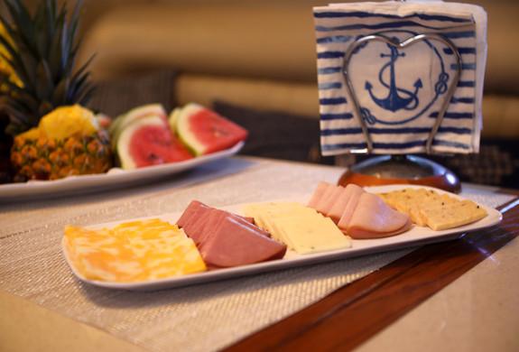 Cold Cuts appetizers Yacht Charter Puert