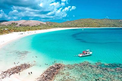 Culebra island beach and Snorkeling Boat