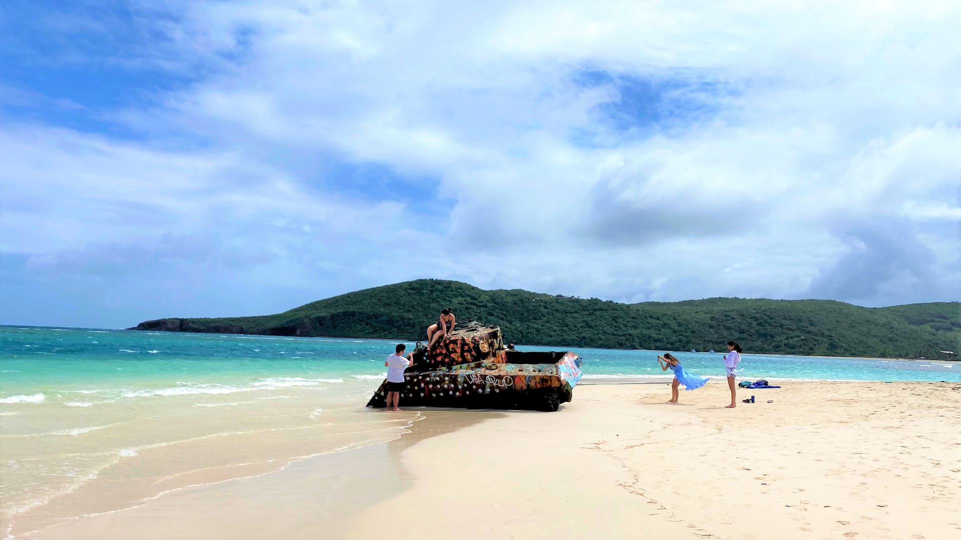 Military Tank Flamenco Beach