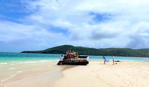 Walk by Flamenco Beach military Tank.jpg