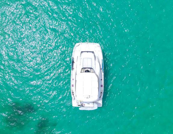 Top View Boat Rental Catamaran Puerto Rico