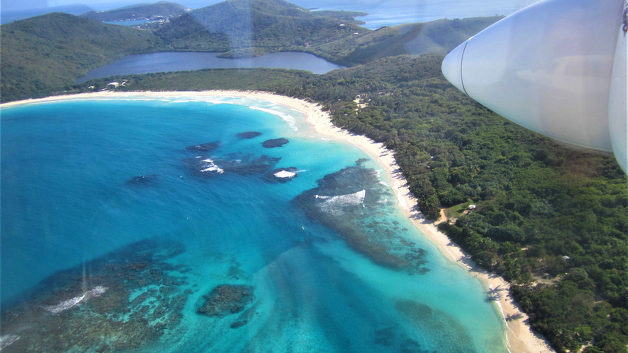 Flamenco Beach Aerial View