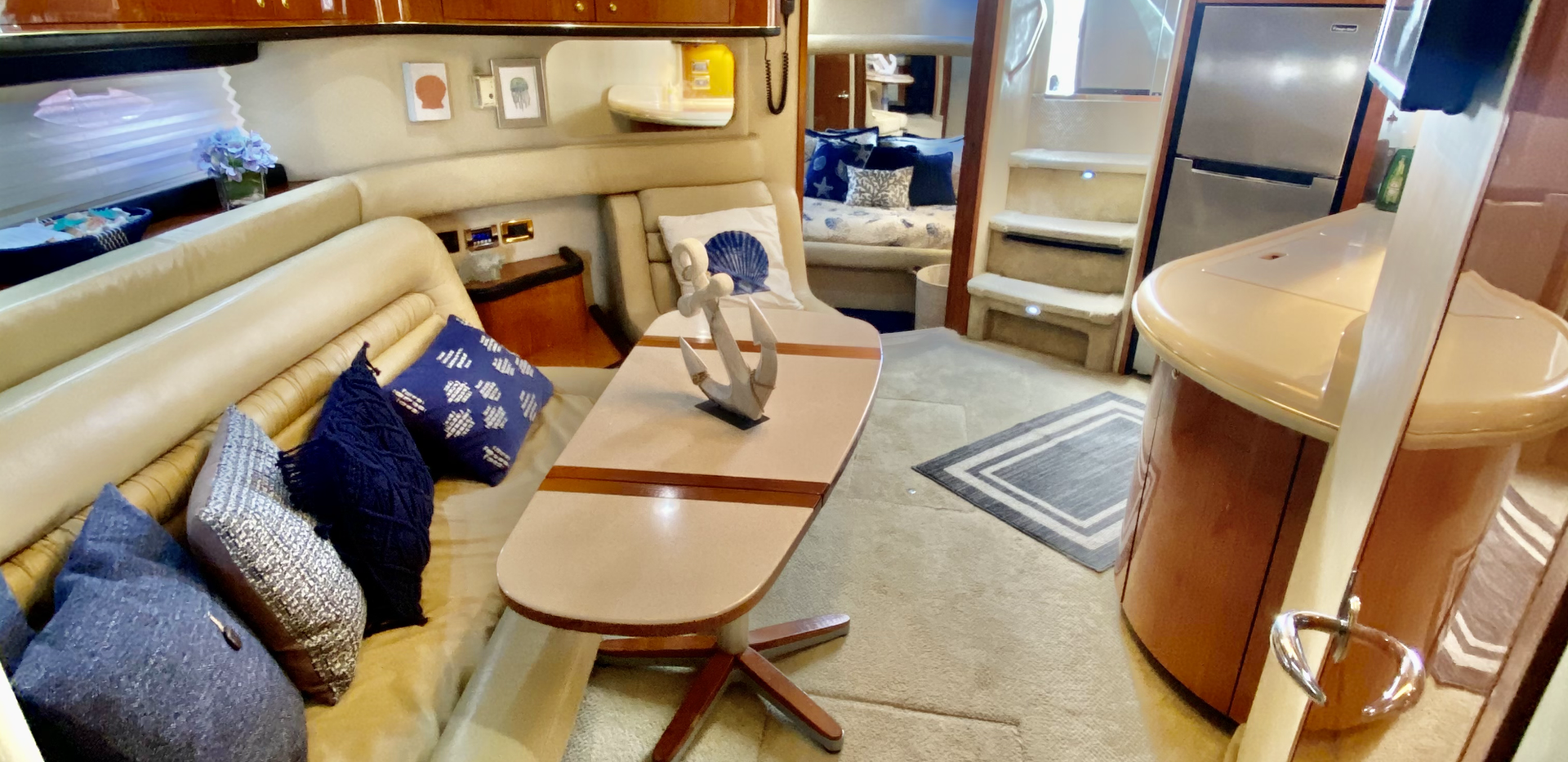 Sea Ray 53 Interior Palomino Icacos Yach