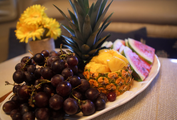 Fruit Platter Yacht Charter Icacos