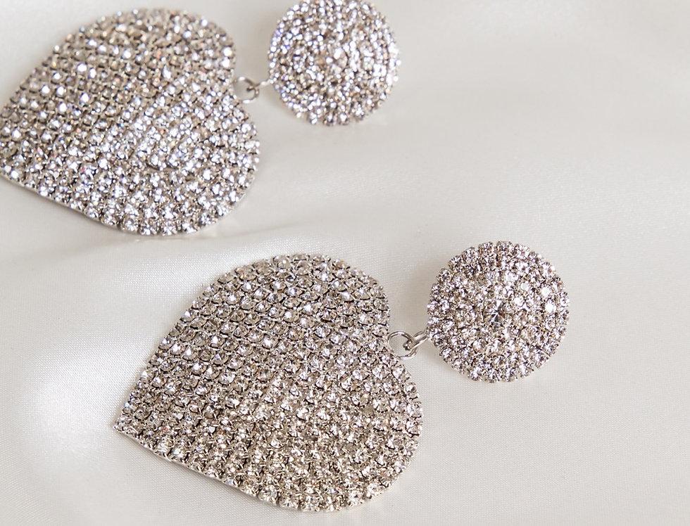 Love Hearts Silver Earrings