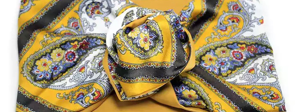Wired Hair Bow Wraps In Paisley