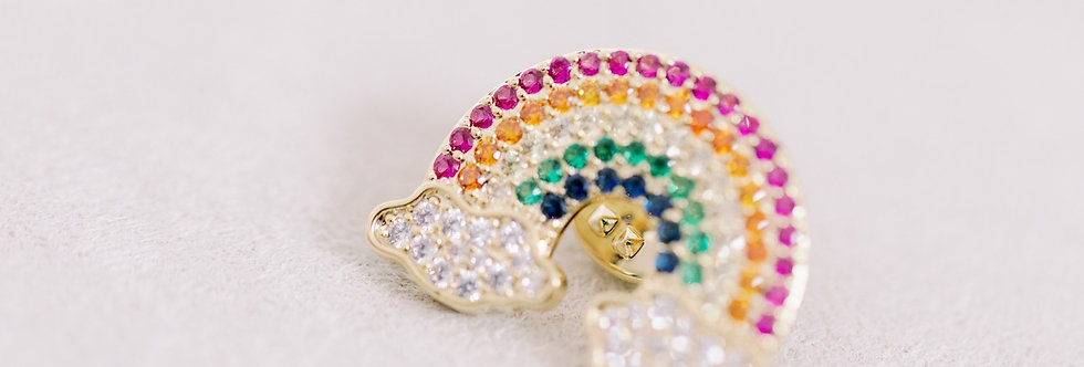 Rainbow Bright Brooch