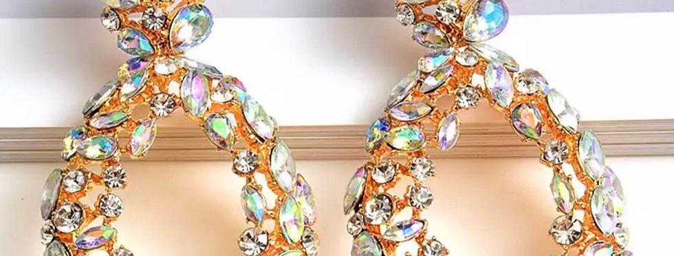 Crystal Cleo Earrings In Clear Diamond