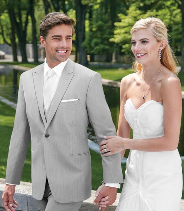 light grey suit Ike Behar Grenada wedding groom rental phoenix tempe arizona
