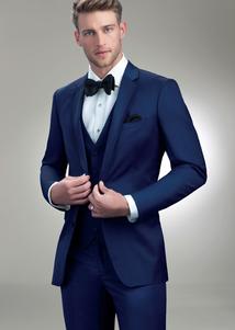 cobalt tux rental wedding style groom groomsmen slim fit