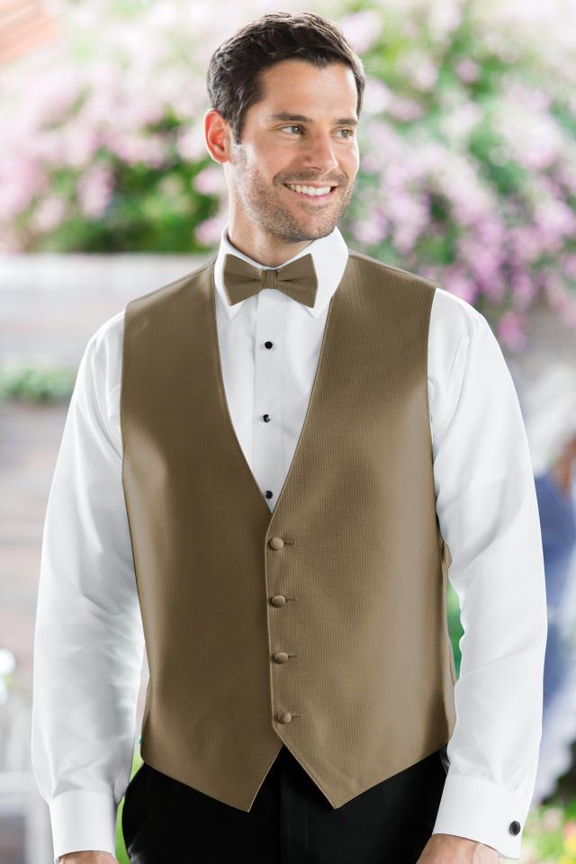 Herringbone Latte Vest
